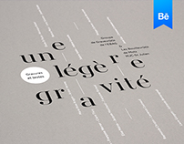 A slight gravity - Editorial Design