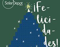 Tarjeta Navideña animada Solar Depot 2017