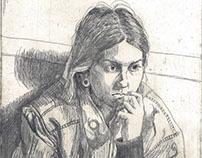 Sara Ramone, etching