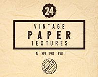 24 Halftone Paper Textures