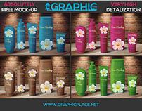Cosmetic Bottles - Free PSD Mockup