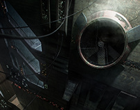 Heist sci-fi scene