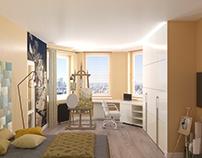 Визуализация спальни. Visualization bedrooms .