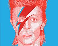 Bowie - fan art - vector illustration