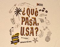Que Pasa, U.S.A.? t-shirt design for Ludlam Trail event