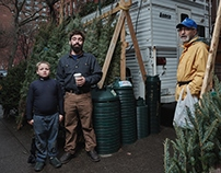 Treeumph. Christmas tree sellers in the USA and Russia.