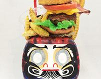 hamburger daruma/ハンバーガーだるま