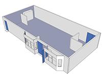 Mesa College Art Gallery - 3D Model & Previz Diagrams