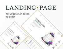 Landing page for vegetarian desserts to order