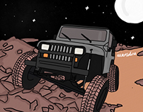 Jeep In Space - Commisioned