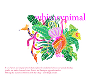 Whimsical Animals / Whimsynimals SS18 - Artwork