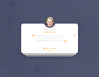 Daily UI - Day 039 - Testimonials