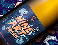Wine Art || Sparkling Wine Packaging Design