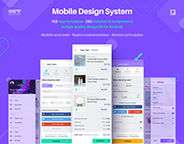 Mobile Design System. High quality templates kit