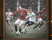 UK Premier League match Promotion ManUtd-Tottenham