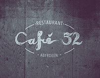 Cafe 52 - Self Initiated Branding & Menus