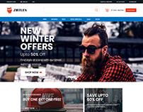 Ecommerce Website - Fashion - Desktop & Mobile Version
