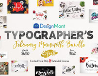 Typographer's February Mammoth Font Bundle (99.5% Off)