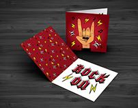 Rock On Greeting Card