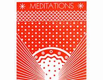 Broadside - Meditations Laser engraved lino block