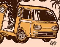 Boogie Van Explosion stamp