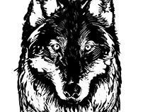 Stitched Wolf Press Logo