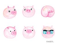 """""""Pigs"""" for 100grados fanzine"""