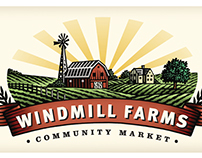 Windmill Farms Logo Mark Illustrated by Steven Noble