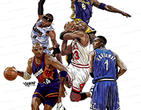 nba legends illustration