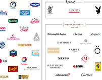 The brands I worked for - 1998 / 2019
