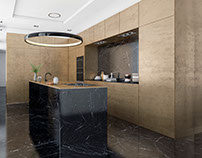 Brutal Kitchen / Bronze and Marble