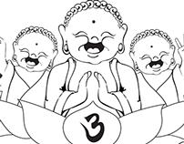 3 Laughing Buddhas Logo Work