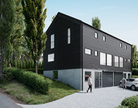 Semi-detached house visualizations - Norway