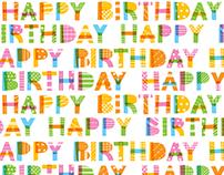 Birthday Letter Cake (Birthday Giftwarp/Bag for USA)