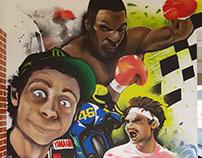 Custom sports theme mural