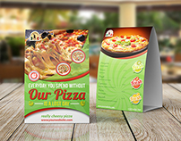 Pizza Restaurant Table Tent Template