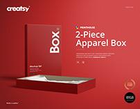 2-Piece Apparel Box Mockup Set