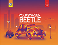 Volkswagen Beetle Illustration