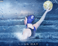 Hartwick Water Polo Game Day Graphics