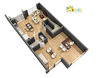 Residential 3D Floor Plan Design and Visualization