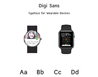 Digi Sans - Typeface for Wearable Devices