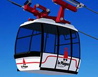 La Plagne Ski Resort Poster