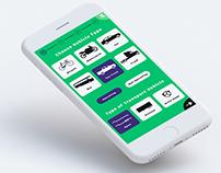 UI/UX screens of apps