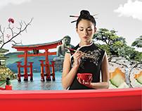 Japanese food festival ad