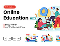 M294_ Online Education Illustrations