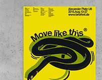 Move like this; Tanzfestival Poster, 2015