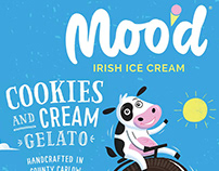 Moo'd Ice Cream branding