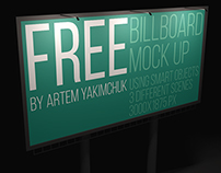 FREE Billboard Mockup (night edition)