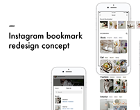Instagram bookmark redesign concept