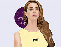 Lana Del Rey Illustration